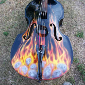 KAY CONCERT BASS 1952 FLAMED ON BLACK for sale