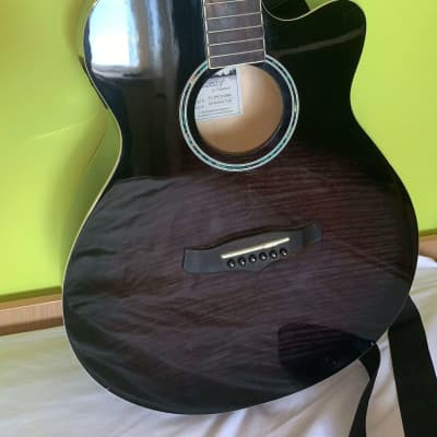 Tanglewood Liberty Electro-Acoustic 2014 Black/Flame Veneer for sale