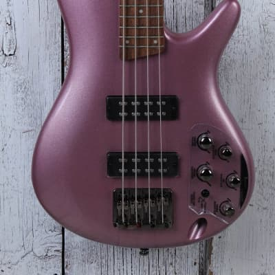 Ibanez SR300E 4 String Electric Bass Guitar with Power Tap Pink Gold Metallic for sale