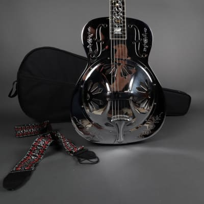 """1994 Dobro Model 36 """"Tree of Life"""" The Rose Flower Inlays Acoustic Electric Resonator Guitar"""