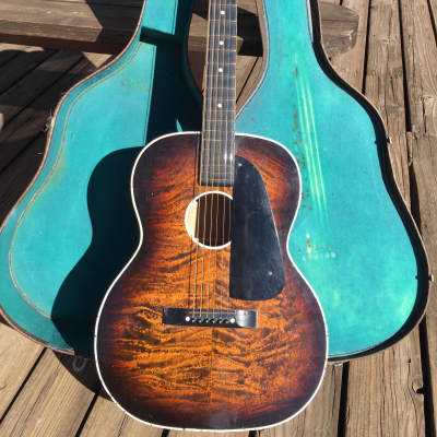 Nioma Acoustic Hawaiian Lap Steel  2S1  Faux Flame Regal Harmony 1935 Weissenborn w/ original case for sale