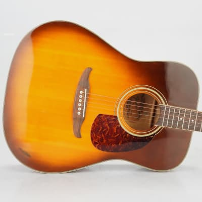 19080's-90's Fender Malibu Acoustic 6-String Guitar Sunburst w/ Case #38939