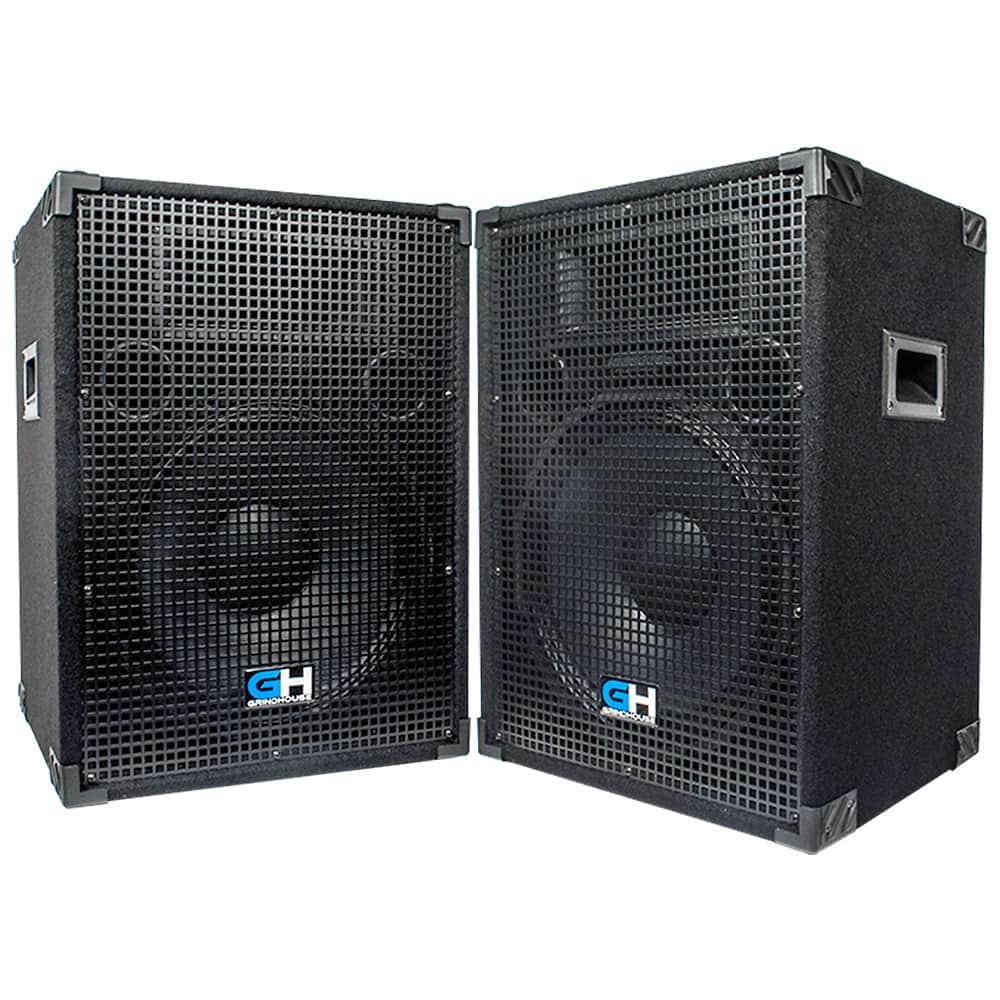 2000w Pair Of 15 Inch Passive Full Range Pa Speakers Home