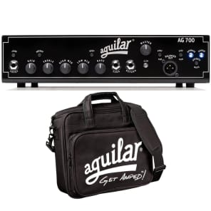 Aguilar AG-700 Bass Amplifier Solid State 700W 1-Channel Amp Head w/ Carry Bag for sale