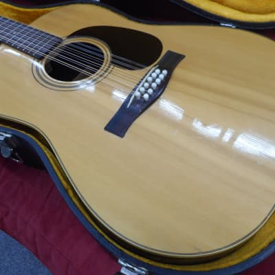 Giannini AWS680 12 String guitar 1974 Natural W/Case for sale