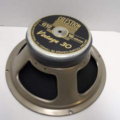 "Celestion Vintage 30 12"" Loud Speaker English England UK 444 Cone Guitar Loudspeaker 16 OHM V30 #1"