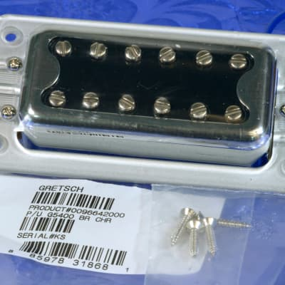 Gretsch Black Top  Bridge Pickup With Silver Ring And Mounting Screws 0096642000