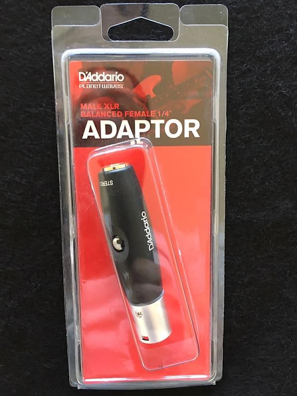 "D/'Addario Accessories Male Xlr Male To Balanced 1//4/"" Female Adapter"