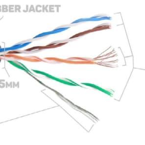 200 ft PRO CAT5E Tactical Shielded Ethernet RJ45 Digital Audio Cable Snake