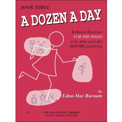 A Dozen a Day: Technical Exercises for the Piano - Book Three