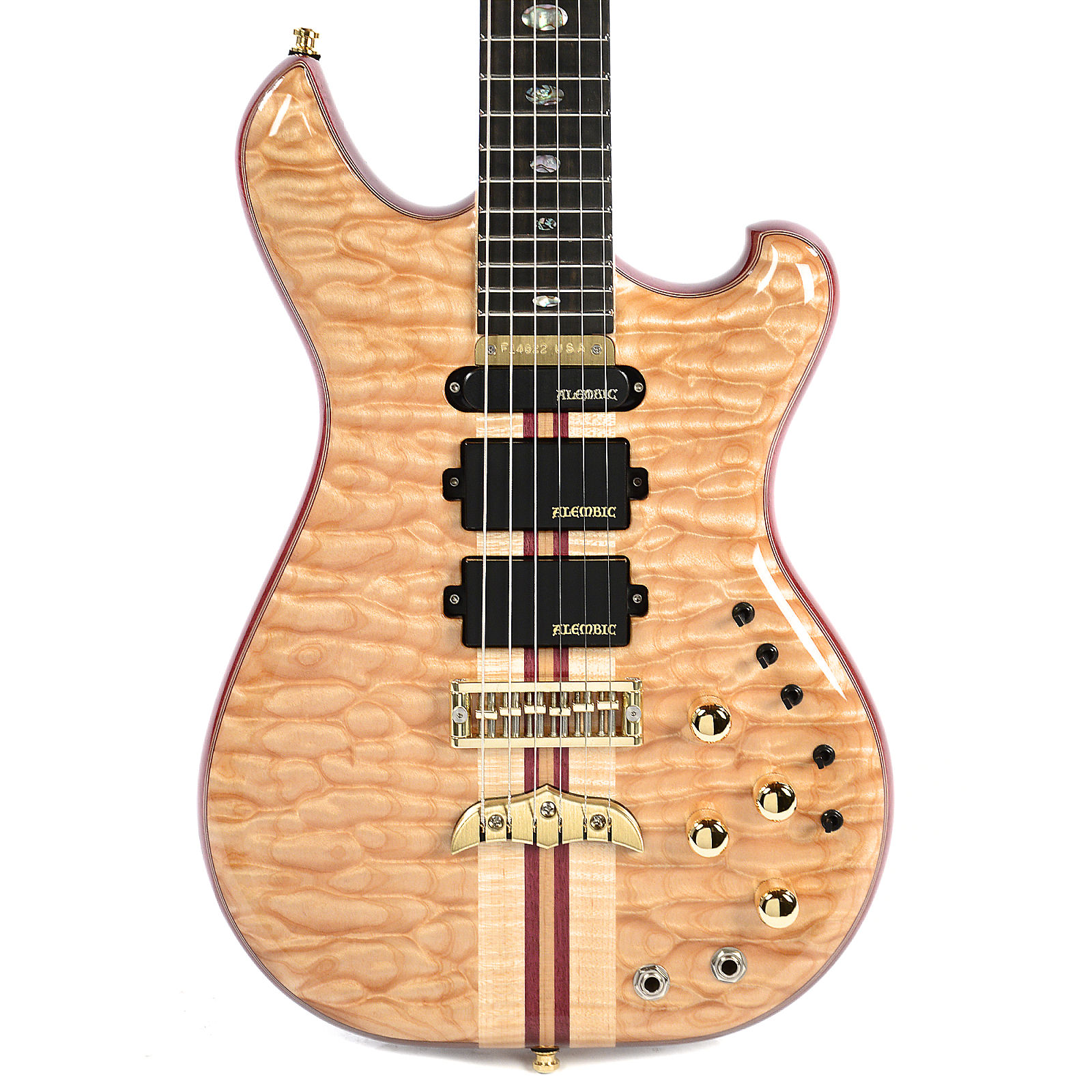 Alembic Further 5A Quilted Maple Top Flame Maple Back Purpleheart Core w/Hardshell Case (S#F14622)