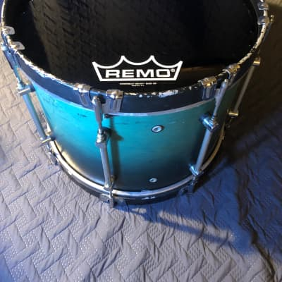 """18"""" Mapex Marching Bass Drum Teal Fade (w/Randall May Carrier)"""
