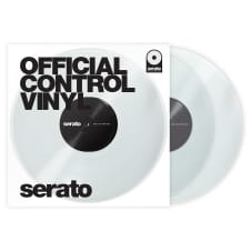 "Serato Performance 7"" DJ DVS Scratch Live Turntable Control Vinyl Pair, Clear"