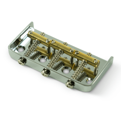Kluson® 1/2 Size Replacement Bridge For Fender Telecaster® Steel With Brass Saddles Chrome