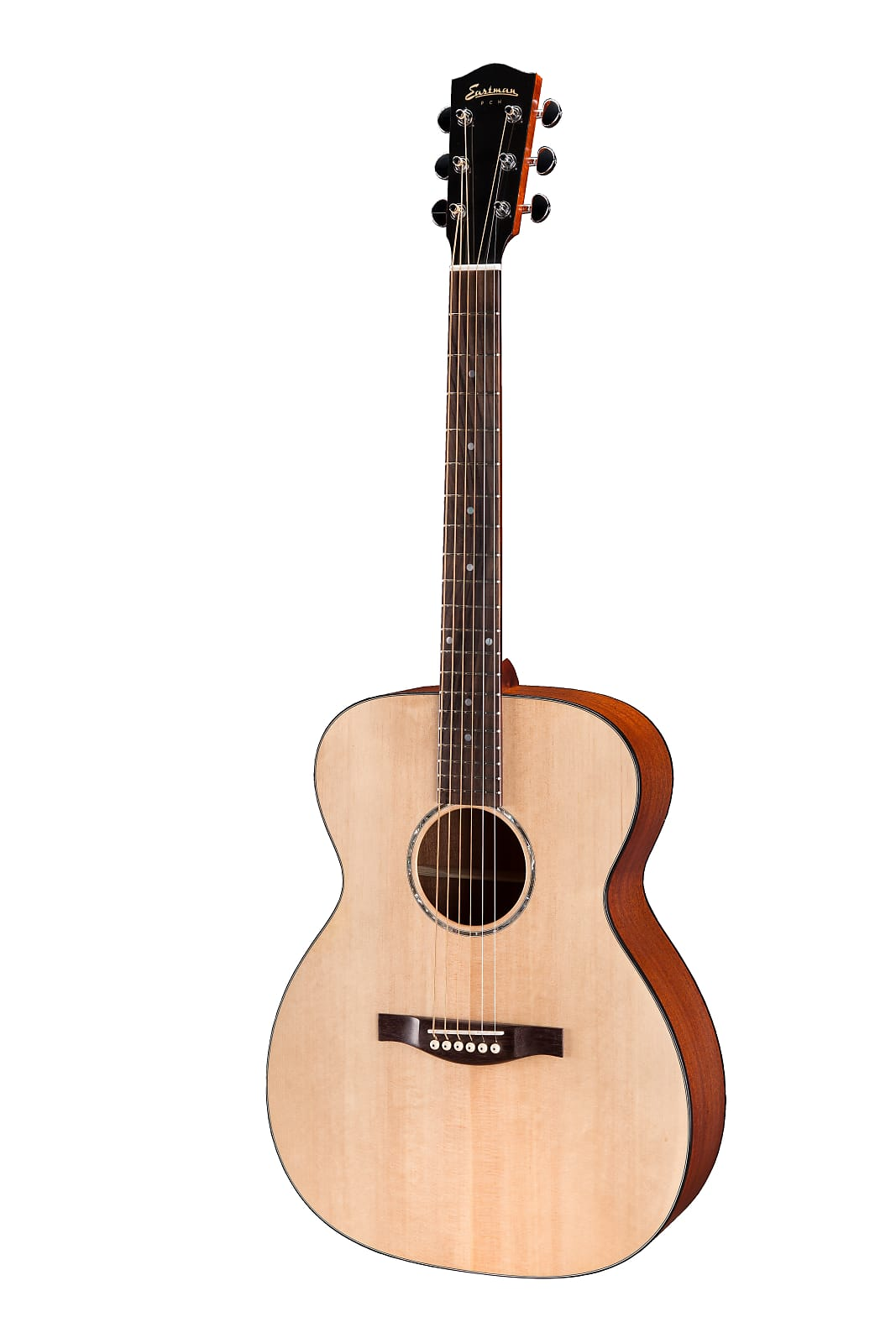 Eastman PCH1-OM Solid Top Orchestra Model Acoustic Guitar Natural