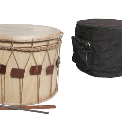 """Mid-East 20"""" Tupan Drum w/ Case & Sticks - Rope Tuned"""