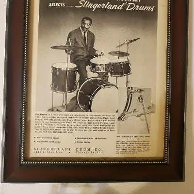 1959 Slingerland Drums Promotional Ad Framed Roy Haynes Original
