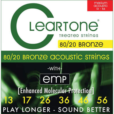 Cleartone Medium Gauge 80/20 Bronze Coated Acoustic Strings