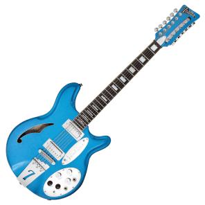ITALIA JEFFREY FOSKETT SIGNATURE 12 STRING - COBALT BLUE & GIG BAG for sale