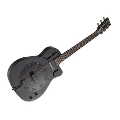 Ozark 3515BTEC-BK Electro Cutaway Resonator (Matte Black) for sale