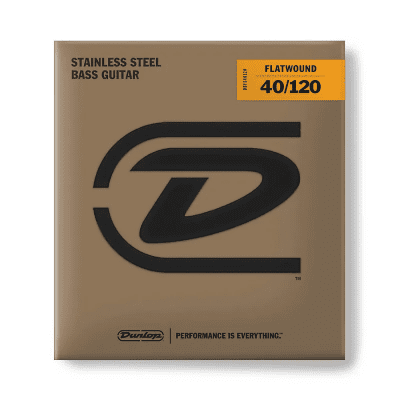 Dunlop DBFS40120 Stainless Steel Flatwound 5-String Bass Strings (40-120)