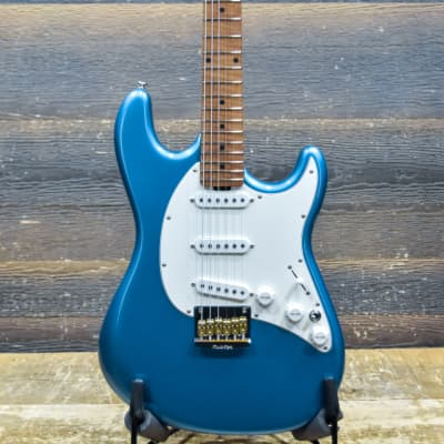 Ernie Ball Music Man Hunter Hayes Cutlass Tahoe Blue Electric Guitar w/Case #S03658 for sale