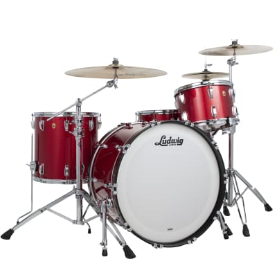 Ludwig Legacy Maple Red Sparkle Pro Beat 14x24_9x13_16x16 Special Order Drum Kit | Authorized Dealer