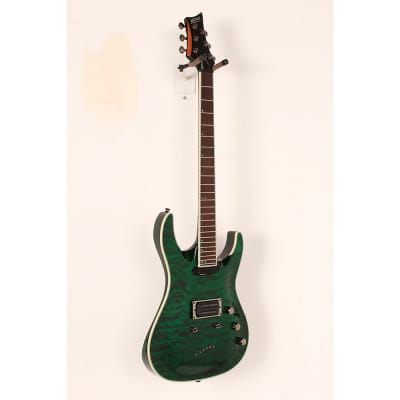Mitchell MD400 Modern Rock Double-Cutaway Electric Guitar Regular Transparent Green for sale