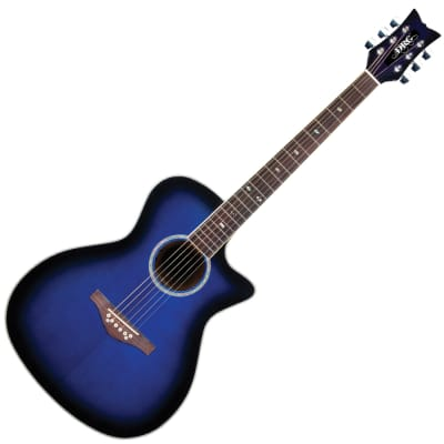 DAISY ROCK WILDWOOD ARTIST ELECTRO ACOUSTIC - ROYAL BLUE BURST for sale