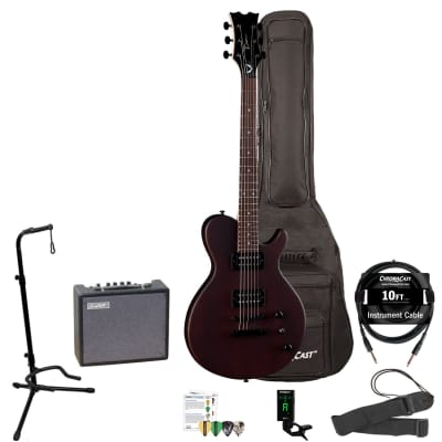 Dean EVO XM Solid Body Mahogany Electric Guitar with 10-Watt Amp, Padded Gig Bag, Clip-On Tuner, Stand, Strap, Picks, Cable & Online Lesson for sale