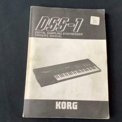 Korg DSS-1 Original Owners Manual