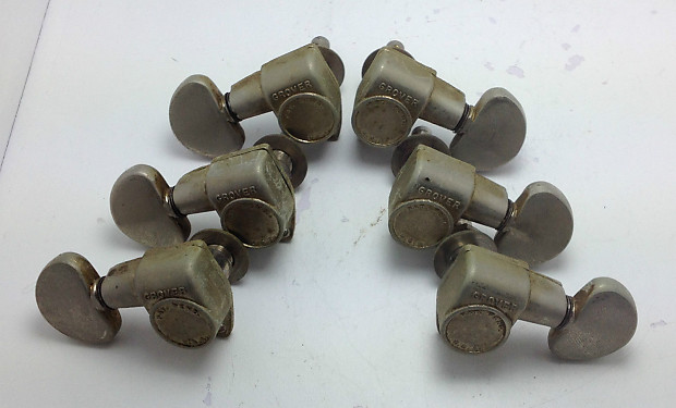 vintage grover patent pending guitar tuners tuning pegs reverb. Black Bedroom Furniture Sets. Home Design Ideas