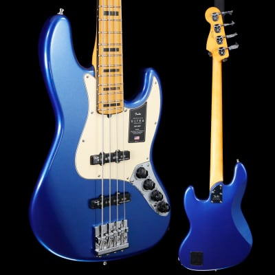 Fender American Ultra Jazz Bass, Maple Fb, Cobra Blue 627 9lbs 3.5oz for sale