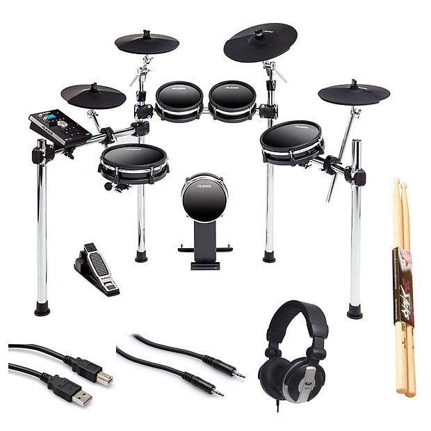 alesis dm10 mkii studio kit electronic drum set headphone reverb