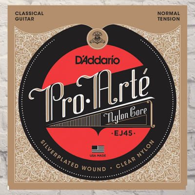 D'Addario EJ45 Normal Tension Nylon Pro-Arte Classical Guitar Strings 02-43
