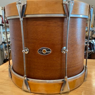 Slingerland Marching Tom  70s Mahogany shell and maple hoops
