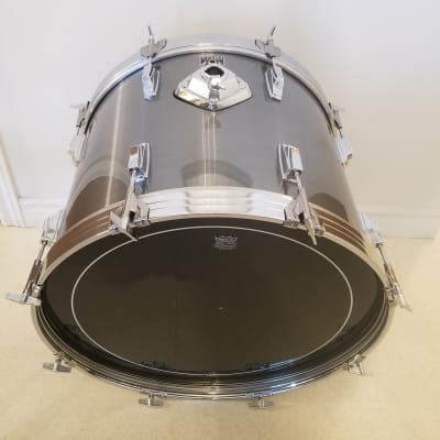 "Tama 22""x16""Swingstar Bass Drum - Mint 1980's Misty Brushed Aluminum"