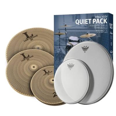 Zildjian 468 LOW VOLUME Cymbal PACK w/ REMO SILENTSTROKE HEADS LV468RH