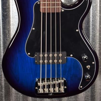 G&L USA Kiloton 5 String Bass Blueburst & Case 2020 #0174