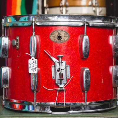 Rogers 1950s Marching Snare in Sparkling Red Pearl - 10x14