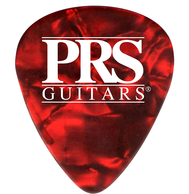 Paul Reed Smith PRS Red Tortoise Celluloid Guitar Picks (12) – Thin