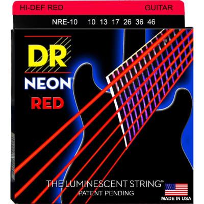 DR Strings NRE-10 Neon 10-46 Red