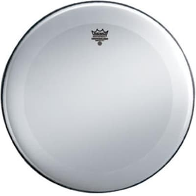 Remo Smooth White Powerstroke 3 Bass Drumhead w/ Dynamo and No Stripe 22 in