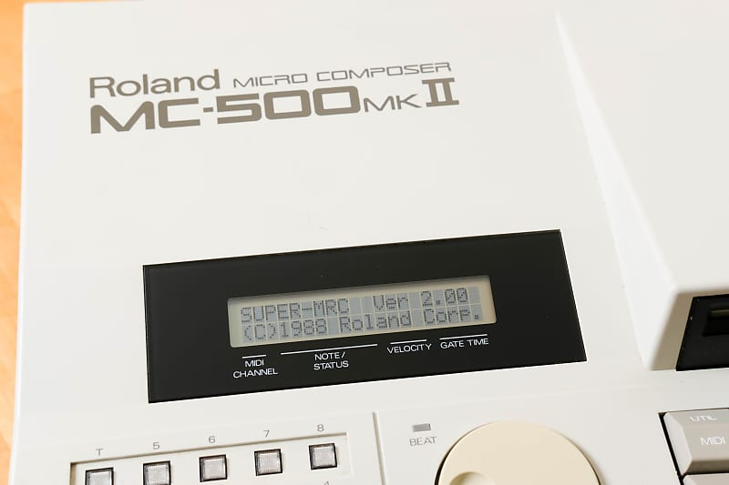 Roland MC-500 mkII w/ Super MRC software & manuals plus Service Notes