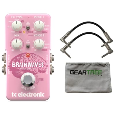 TC Electronic Brainwaves Pitch Shifter Effects Pedal w/ 2 Patch Cables and Geartree Cloth