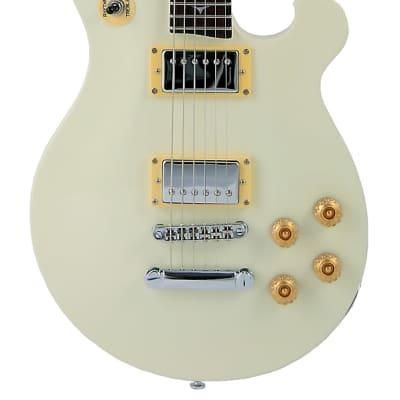 Tregan SH STD AW MAH HH Shaman Standard Series Mahogany Neck 6-String Electric Guitar-Antique White for sale
