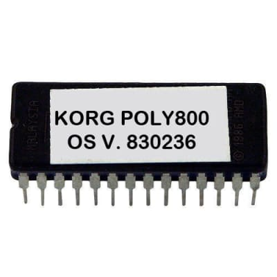 Korg Poly800 MK I version 830236 latest OS firmware update upgrade EPROM Poly 800