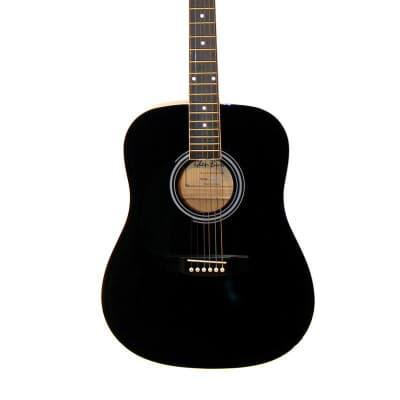 Glen Burton GA101-BK-LFT Dreadnought Laminated Basswood Top 6-String Acoustic Guitar - Left Handed for sale