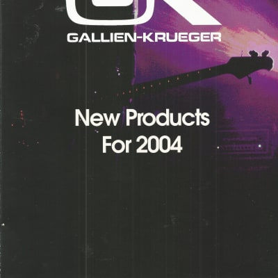 Gallien-Krueger-Catalog, 2004