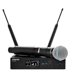 Shure QLXD24/B58 Digital Wireless Handheld Microphone System with BETA58A Cartridge - G50 470-535MHZ